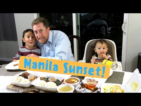 Manila Sunset Has Great Pancit & Crispy Pata! | MUKBANG Eating Show