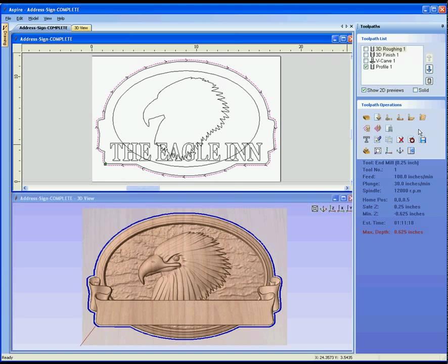 Aspire - 3D Machining Tutorial