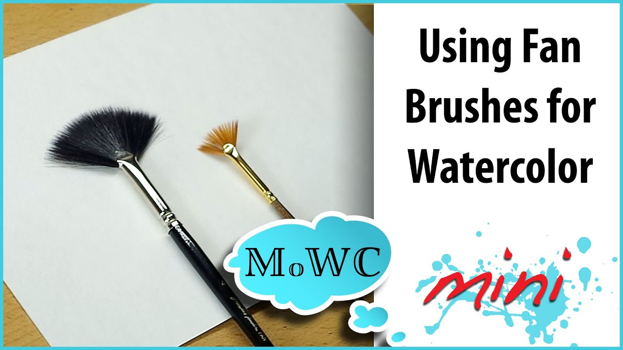 How To Use A Fan Brush For Watercolor Painting Youtube