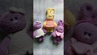 Мини обзор на вязаные плюшевые игрушки