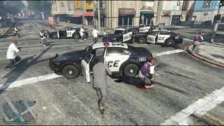 범죄와의전쟁 갱들과 경찰과의 전쟁 GTA5:경찰테러 - 장파
