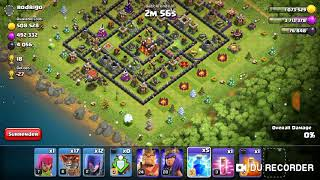 Clash of clans napad vesticama i balonima-Clash of clans attack with witches and balloons