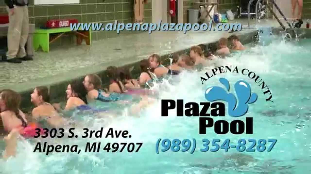 Alpena plaza pool kids classes fun run youtube for Alpena plaza pool swimming lessons