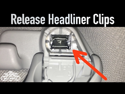 Trick To Remove VW Headliner Clips