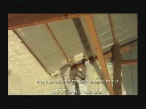 spray foam insulation open cell pole barn marion DuQuoin carbondale DeSoto illinois  YouTube