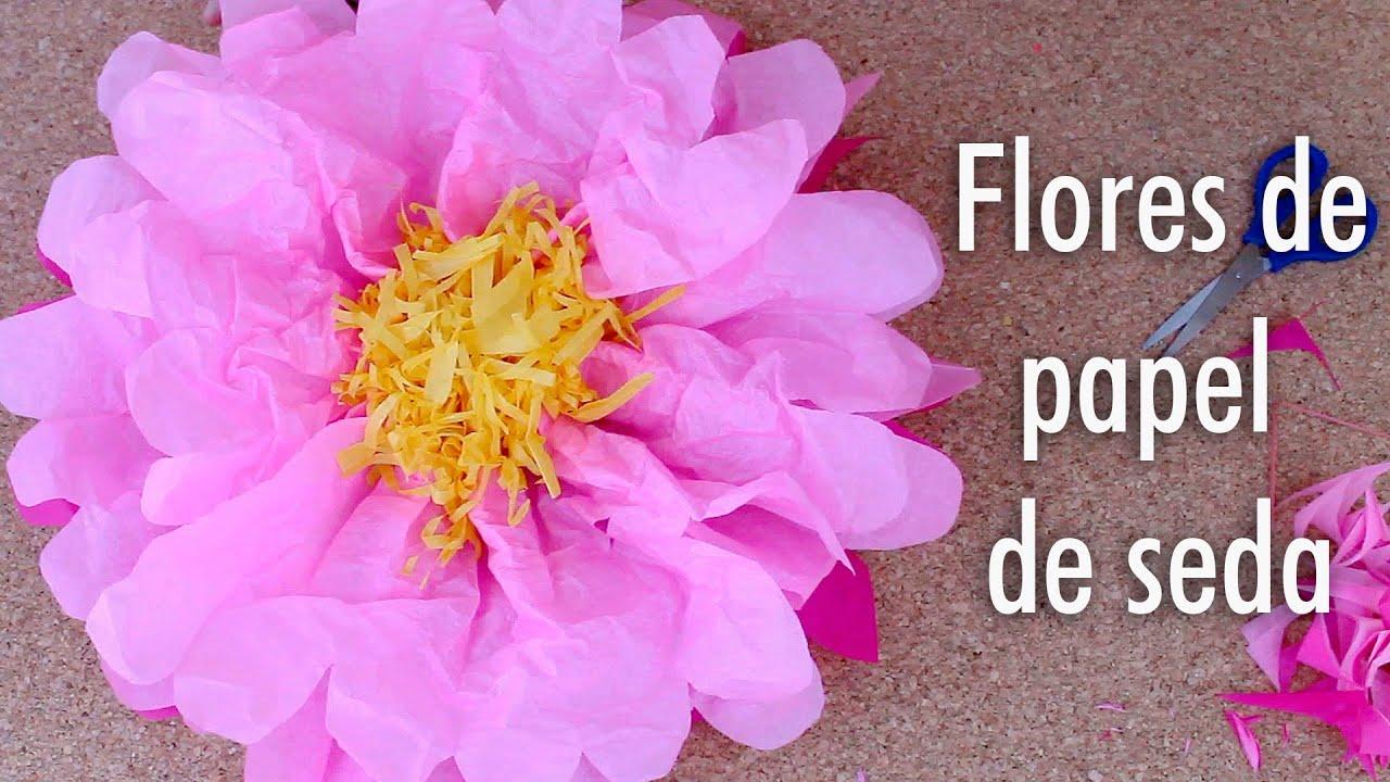 Como Hacer Flores De Papel De Seda Facil Youtube