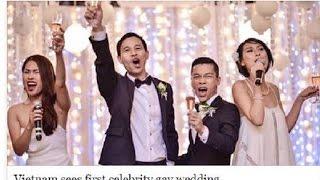 Đám cưới đồng tính của cặp đôi nổi tiếng trong làng giải trí Việt trên báo nước ngoài ra sao?