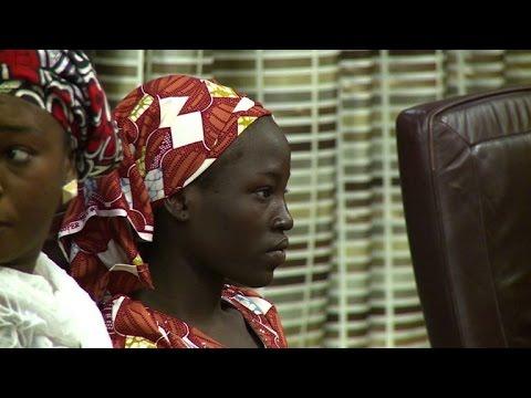 Rescued Chibok girl meets Nigerian President Buhari