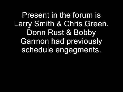 Smith County Sheriff Forum Hosted by GAWTP on April 17, 2012  AUDIO ONLY