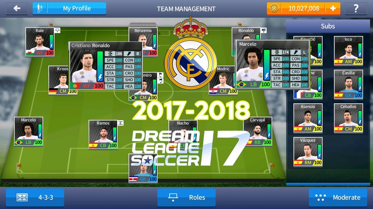 Real Madrid 2018 Dream League Soccer 2017 Save Data With 100 Power