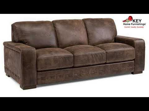 Flexsteel Buxton Leather Sofa 1117 31 | KEY Home