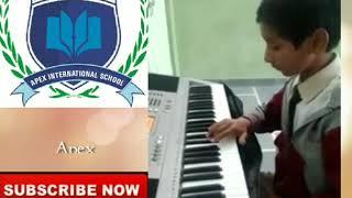 Co-curiculam Activity in Apex International School Baran || Music Class || Sare Jahan Se on keyboard