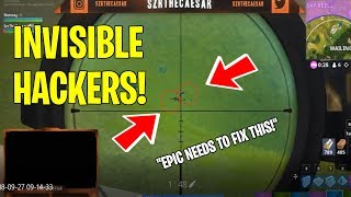 "2 invisible ""Hackers"" Fortnite"