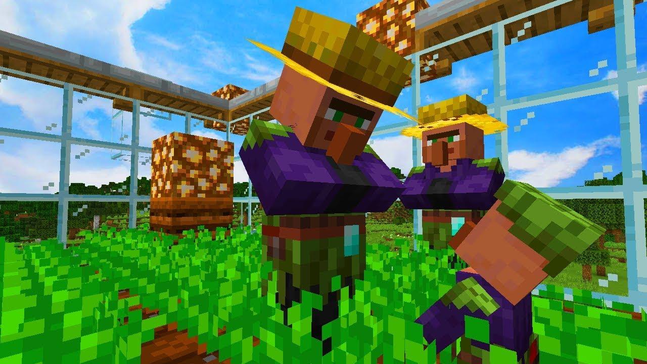 Prosta Farma Wiesniakow W Minecraft 1 14 Wydajna I Automatyczna