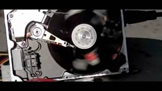 Computer Hard Drive Slow Motion