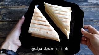 Треугольники из лаваша с курицей и грибами