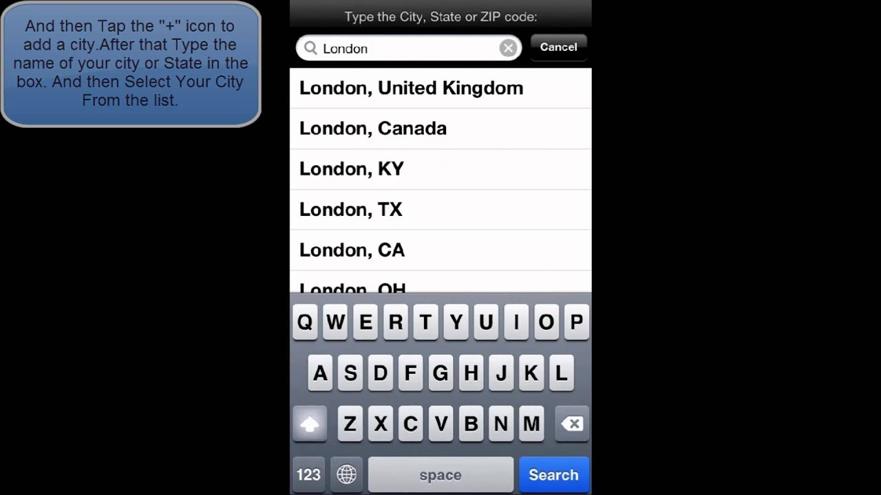 How To Add Or Delete A City From The Weather App In Ios 6 Iphone 5