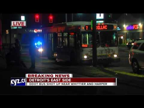 DDOT bus hit by bullet on Detroit