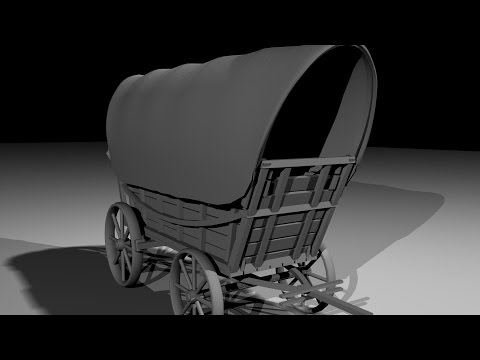 Maya 2014 tutorial : How to model a Conestoga 1840 part 1/3