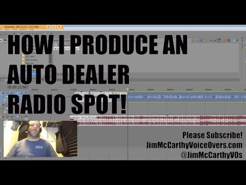 How to do Voice Overs - Producing Your Voice in a Simple Radio Ad