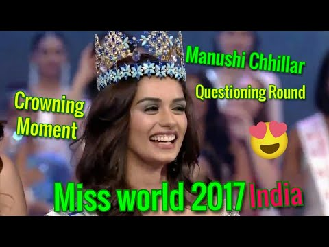 Miss world 2017 Questioning round with Crowning moment | Manushi chhillar|Electromixstudio