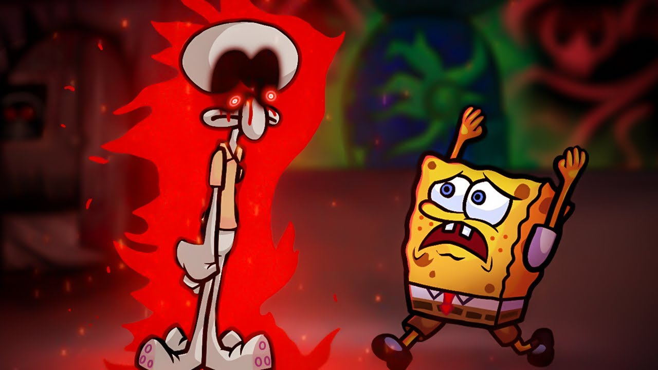 Bob Esponja Vs Lula Molusco no FRIDAY NIGHT FUNKIN! VS The Squidward Tricky Mod - Core