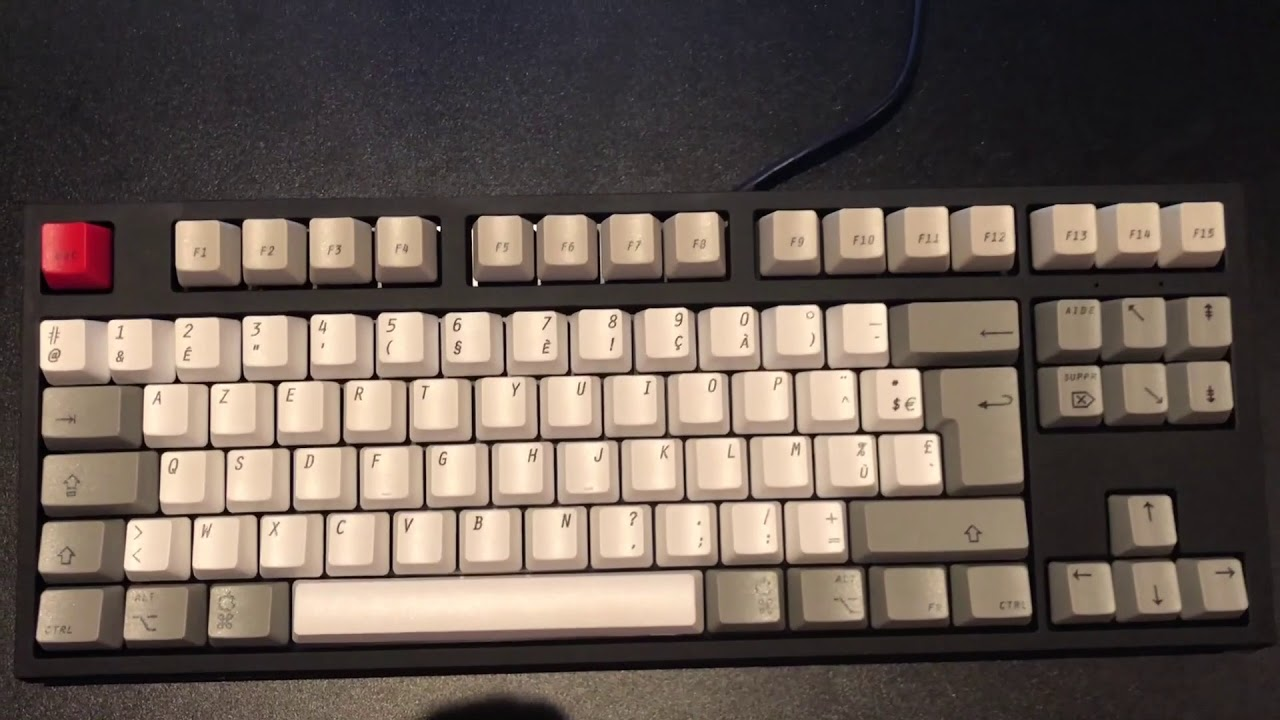 WASD - French Mac Old-style Custom Mechanical Keyboard