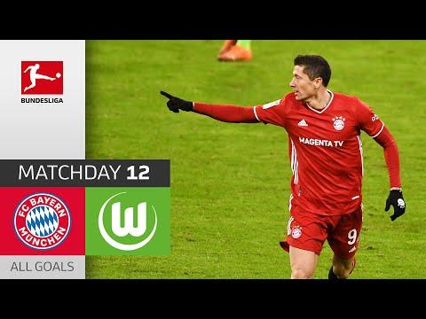 2x Lewandowski Kembali Menang   Bayern München - VfL Wolfsburg   2-1   Semua Tujuan   MD 12 - 2020/21