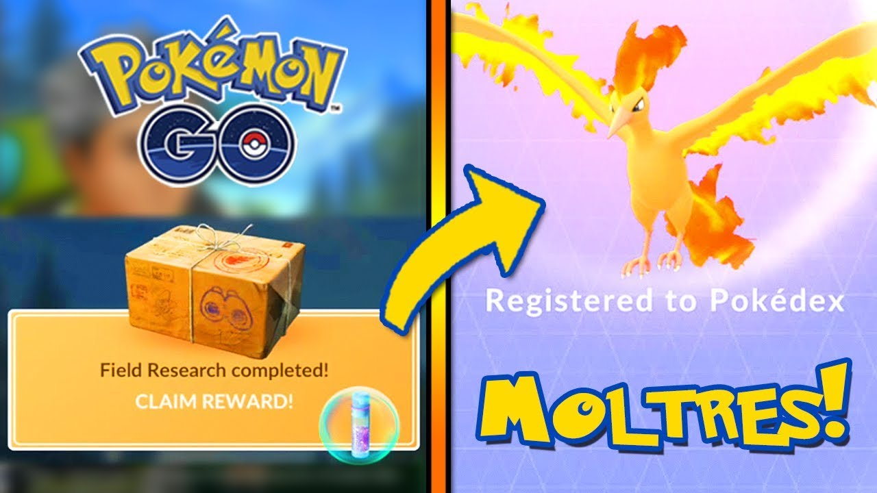 how to catch moltres pokemon go field research