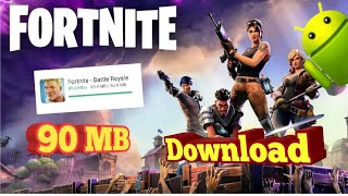 How to Download Fortnite For Android only 90 MB| Fortnite BETA Android| Rhythm Ka Zone | 2019 | HD |