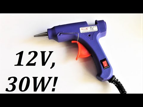 Клеевой пистолет для самоделок на 12 вольт, тест и доработка