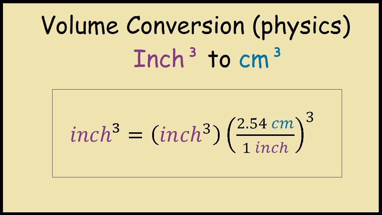 How To Convert From Cubic Inches To Cubic Centimeters