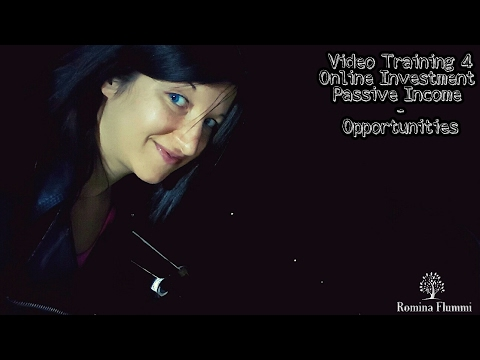 Online Investment Training 4 I Passive Income I Opportunities I Romina Flummi