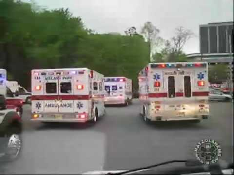 Dozens of Ambulances & Hundreds of EMTs at a Rally To Save The New Jersey EMT Training Fund