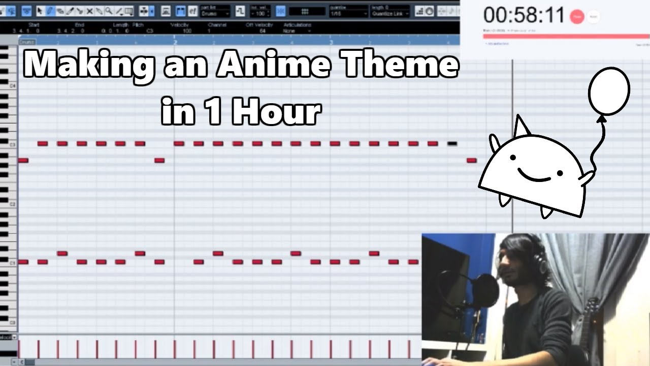 Attempting To Make An Anime Intro Theme In 1 Hour Shady Cicada