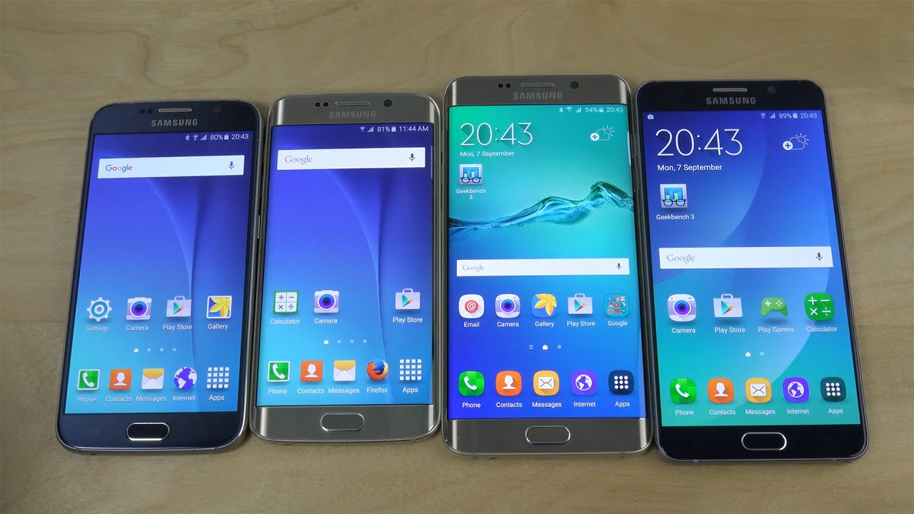 Samsung Galaxy Note 5 vs. Galaxy S6 vs. Galaxy S6 Edge vs ...