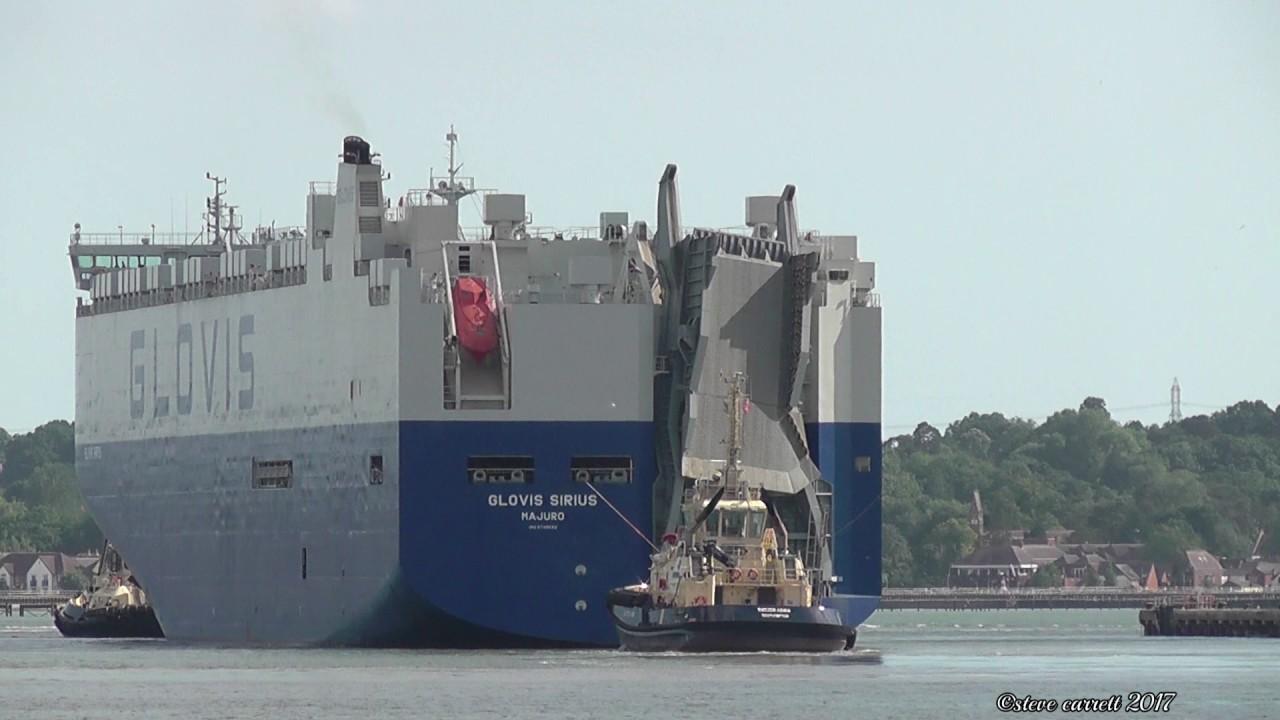 Glovis Sirius - Glovis Vehicles Carrier - sails from 35 berth - Le Havre  1/7/17