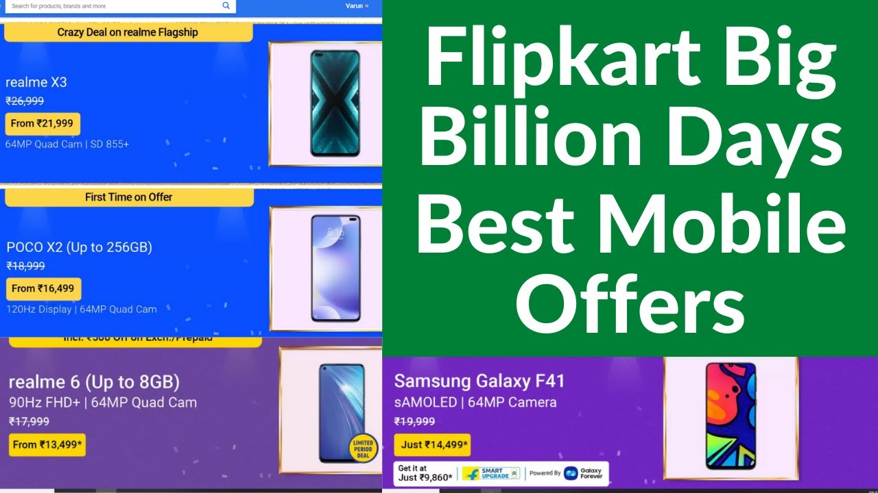 Flipkart Big Billion Days Best Mobile Offers, Best Mobile Under 20000 Flipkart Big Billion Days
