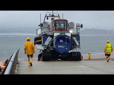 Exmouth RNLI Lifeboat Launch 26-08-18