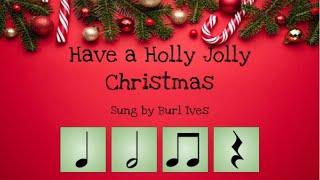 Holly Jolly Christmas Rhythm Play Along