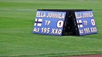 Korkeushyppy   Ella Junnila 195 cm, SE   3.7.19 Tampere