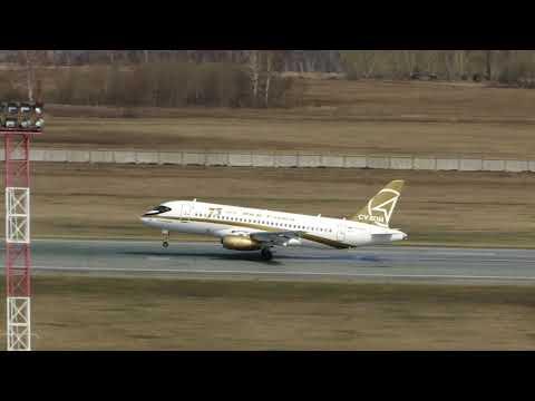 Sukhoi SuperJet 100 95B RA 89007 Sergey Melnikov Tsentr Yug Landing RWY25 UNNT