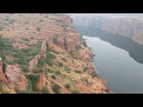Gandikota Penna River Top View , The Grand Canyon of India