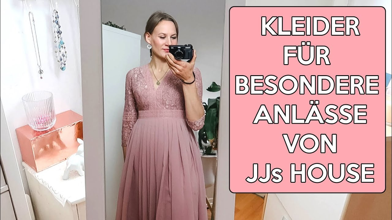 festliche kleider von jjs house im live try on haul für abschlussball,  hochzeit & co.