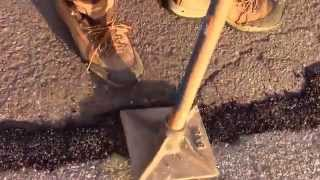 How to use asphalt cold patch to repair blacktop, fix cracks, holes