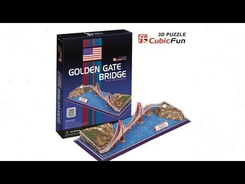 """""""Golden Gate Bridge"""" - Puzzle 3D"""