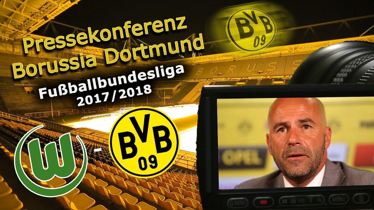 VfL Wolfsburg - Borussia Dortmund: Pk mit Peter Bosz