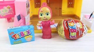 Masha Toybox Sürpriz Yumurta Toybox Oyuncaklı Kutu Ve Toybox Lolipop Açıyor