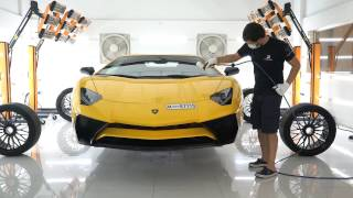 AVENTADOR SV GOT FULL DETAILING SERVICE WITH TOP CERAMIC COATING BRAND