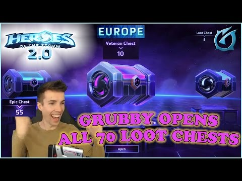 Grubby   Heroes of the Storm 2.0 - Opening All 70 Loot Chests! (Main - Europe Server)